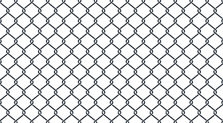 Fence black geometric background - stock vector