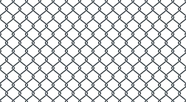 Fence black geometric background - stock vector