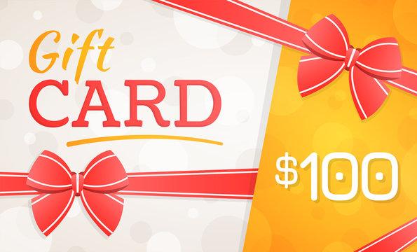 Gift Card, gift voucher - 100 dollars