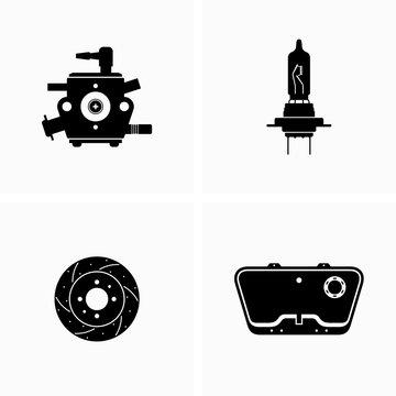 Auto, car parts - Vector