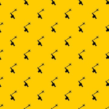 Mig welding torch in hand pattern seamless vector repeat geometric yellow for any design
