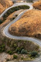 Winding road into Queenstown Tasmania
