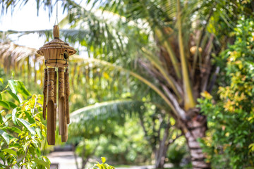 Wind chime made of bamboo Wall mural