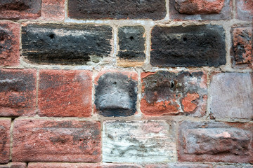 Abstract weathered texture of old grunge brick wall, background