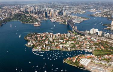 Sydney CBD aerial view - NSW Australia Wall mural