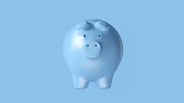 Pale Blue Piggy Bank