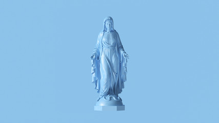 Pale Blue Virgin Mary Mother of Jesus Statue 3d illustration 3d render Wall mural