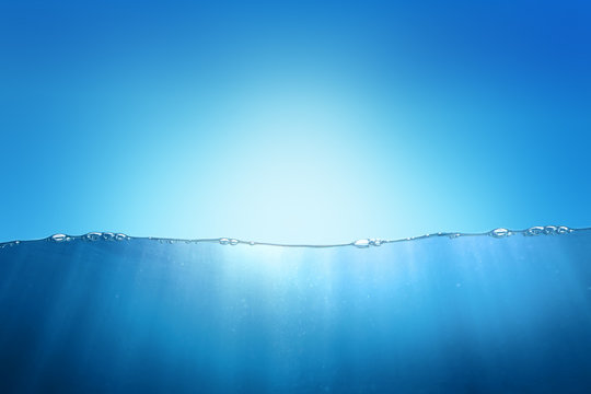 Sky and underwater abstract background design