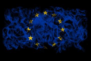 Smoking flag of European Union