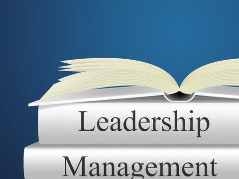 Leader Versus Manager Books Depicts Supervising Vs Leading - 3d Illustration