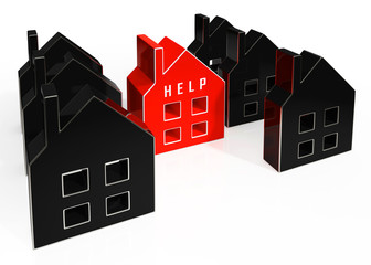 Foreclosure Help Icon Means Assistance To Stop A Property Foreclosing - 3d Illustration