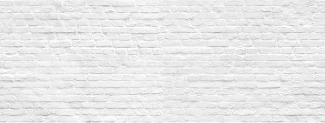 Poster Brick wall White brick wall background seamless pattern