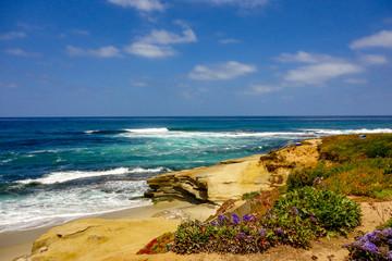 Coastline in La Jolla California