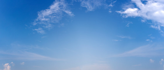 blue sky with soft clouds for background web