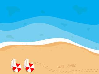 summer beach top view