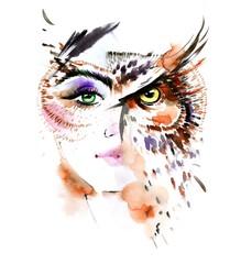 woman - bird