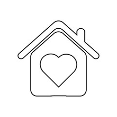 house with love icon. Element of zoo for mobile concept and web apps icon. Outline, thin line icon for website design and development, app development