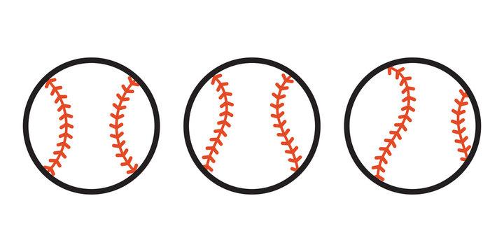 Baseball Ball icon Vector symbol sport illustration cartoon