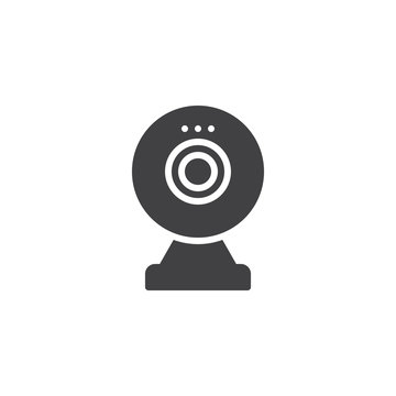 Digital Webcam vector icon. filled flat sign for mobile concept and web design. webcam video call glyph icon. Symbol, logo illustration. Pixel perfect vector graphics