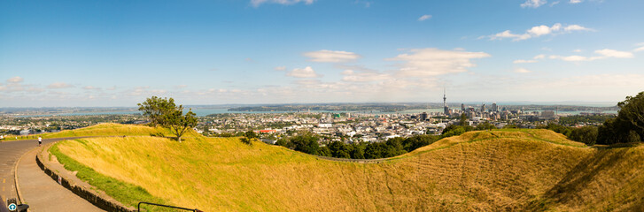 Volcano crater in Auckland, New Zealand