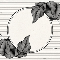 Round white leaves backdrop