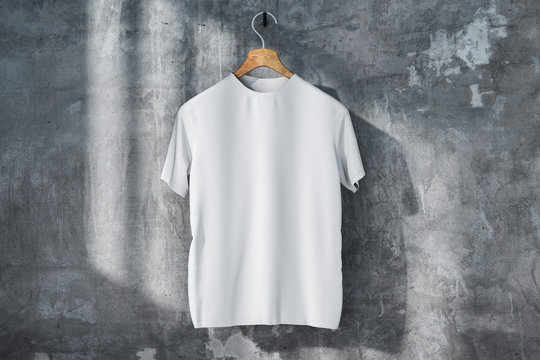 Empty white t-shirt