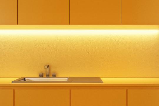 Yellow kitchen sink