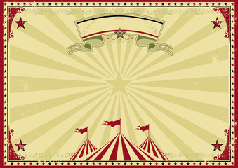 Circus old red horizontal background invitation
