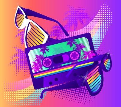 retro party wave