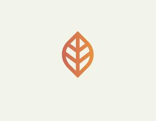 Creative linear plant leaf logo for company