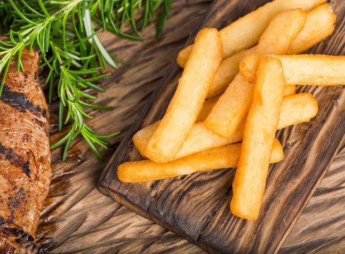 Tasty fried yuca - Manihot esculenta