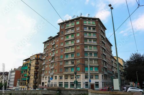 Apartment block in Aurora district Torino, Italy