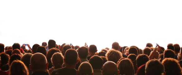 people and the customizable white background during an event