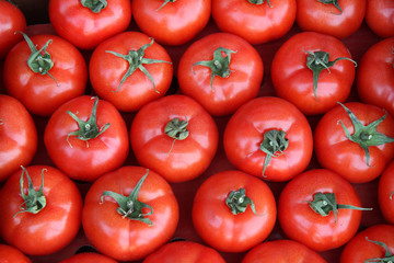 Red tomatoes for food background