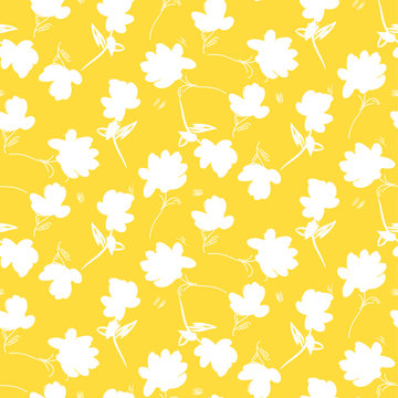 Simple flower yellow pattern vector design.
