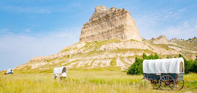 Scotts Bluff National Monument in Nebraska, Oregon Trail, USA