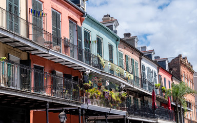 Colorful buildings around French Quarter, New Orleans Fotomurales