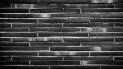 Keuken foto achterwand Trappen Black brick wall texture, brick surface for background. Vintage wallpaper.