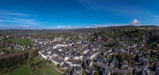Allassac (Corrèze - France) - Vue aérienne de la cité ardoisière