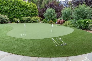 A Back Yard Putting Green
