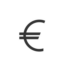 Euro vector icon