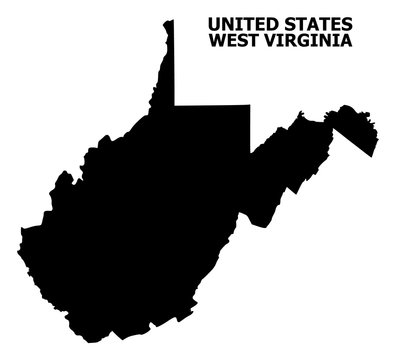 Vector Flat Map of West Virginia State with Caption