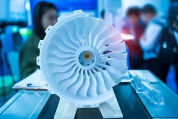 Printing 3D printer jet engine printed model plastic Fototapete