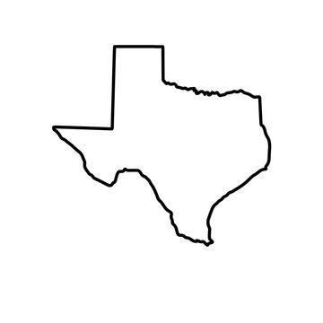 The Map Of Texas. Raster illustration
