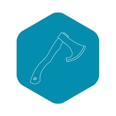 Hatchet icon. Outline illustration of hatchet vector icon for web