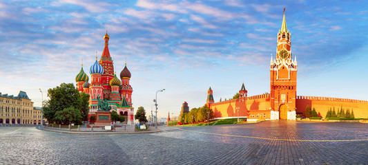 Printed kitchen splashbacks Moscow Panorama of Kremlin, red square in Moscow, Russia