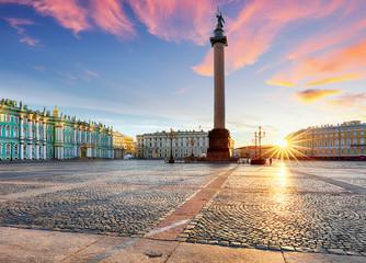 View of Saint Petersburg. Panorama of Winter Palace Square, Hermitage - Russia Fototapete
