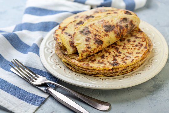 Delicious Norwegian potato pancakes lefse.