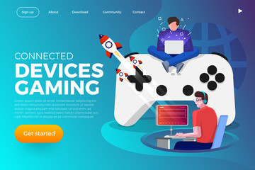 Illustrations COncept Game streaming