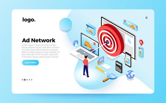 Isometric Website Ade Network